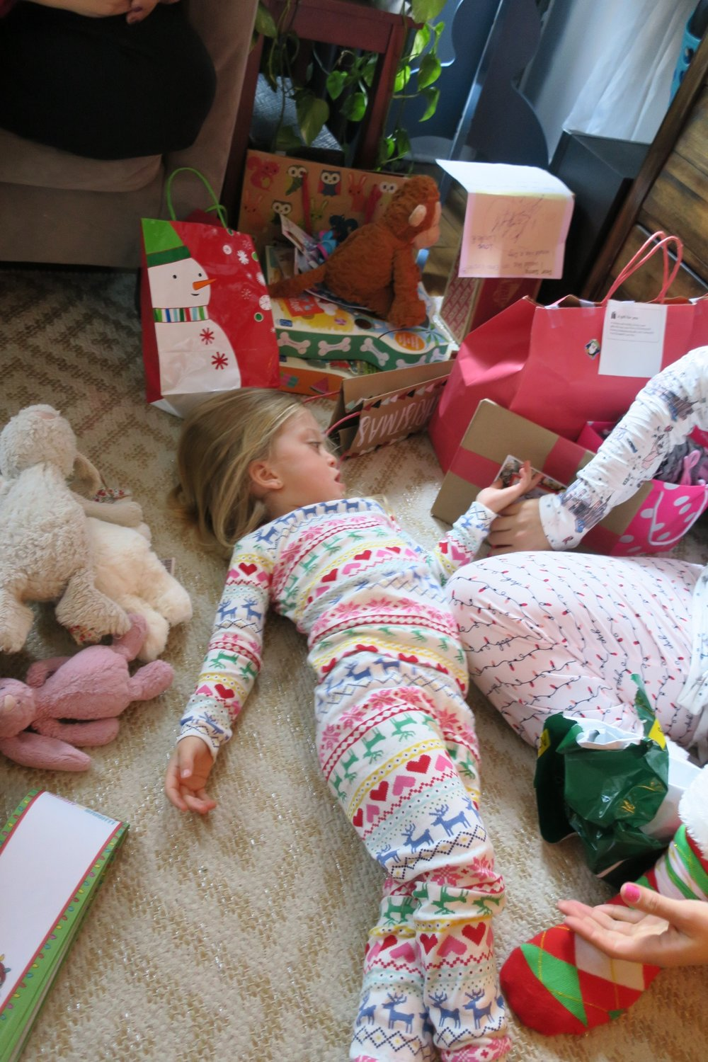 Tantrums can happen at any time, even on Christmas in the middle of opening gifts!