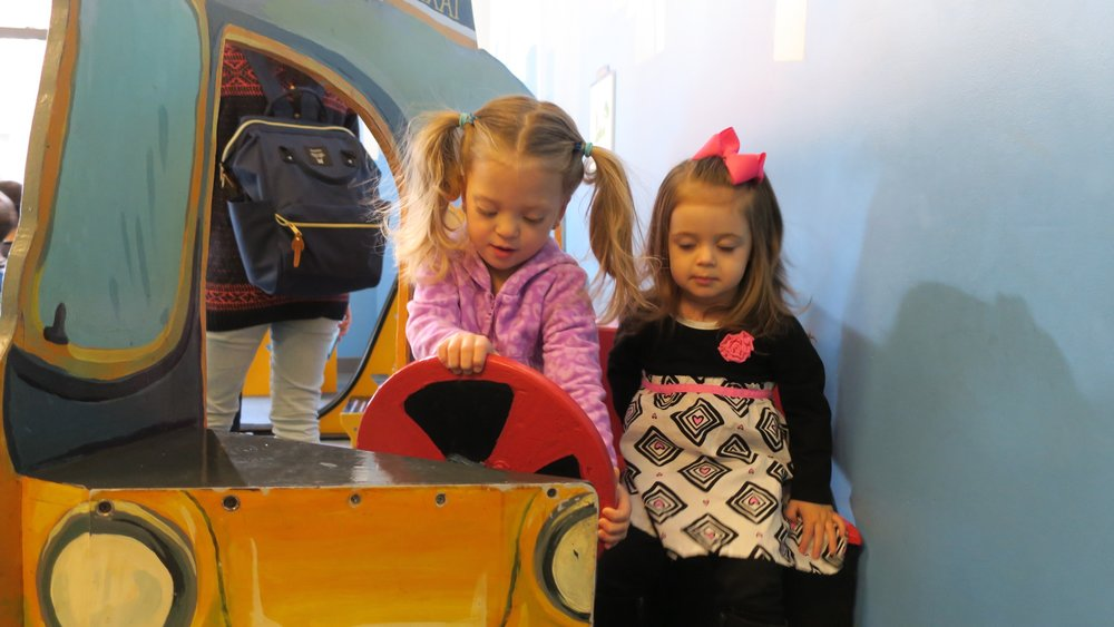 At the Children's Museum of Manhattan later in the week. Lucie was driving a Taxi.