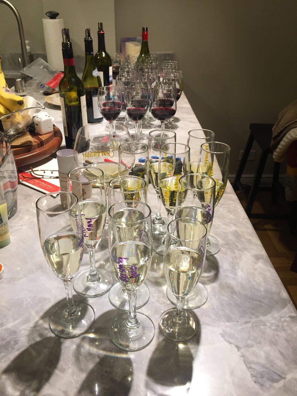 Wine Club! Tasting different varieties from Australia.
