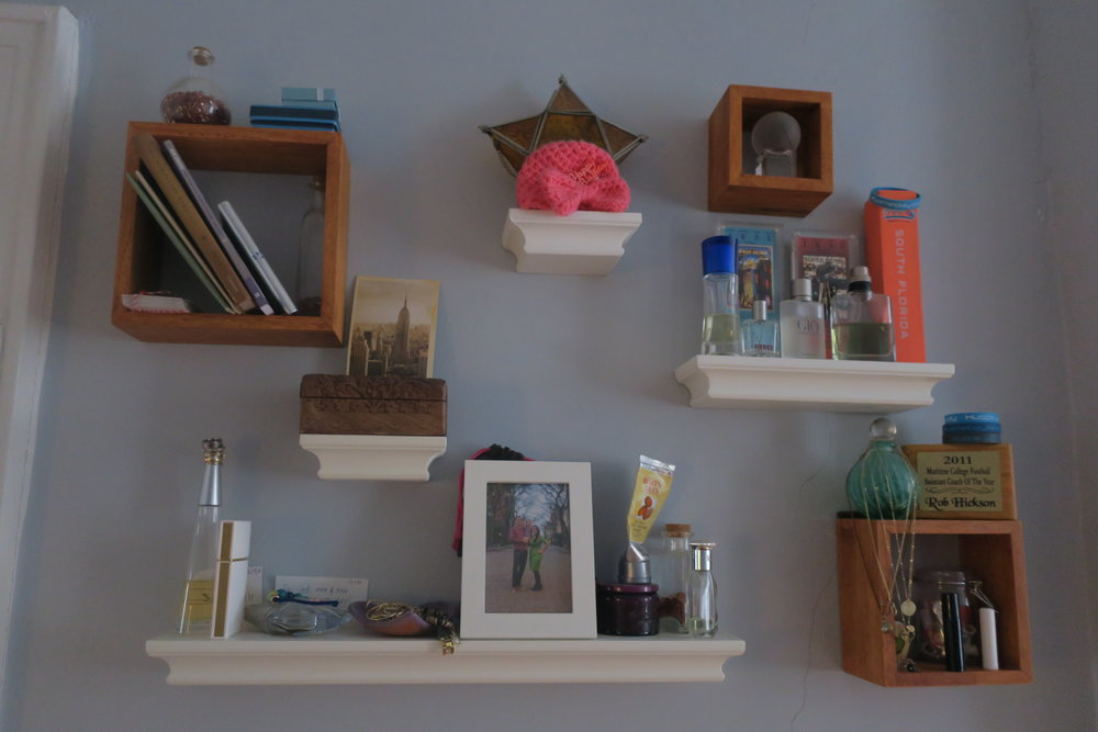 We've added lots of mementos to this area, like that sweet preemie hat from Lucie's NICU days.