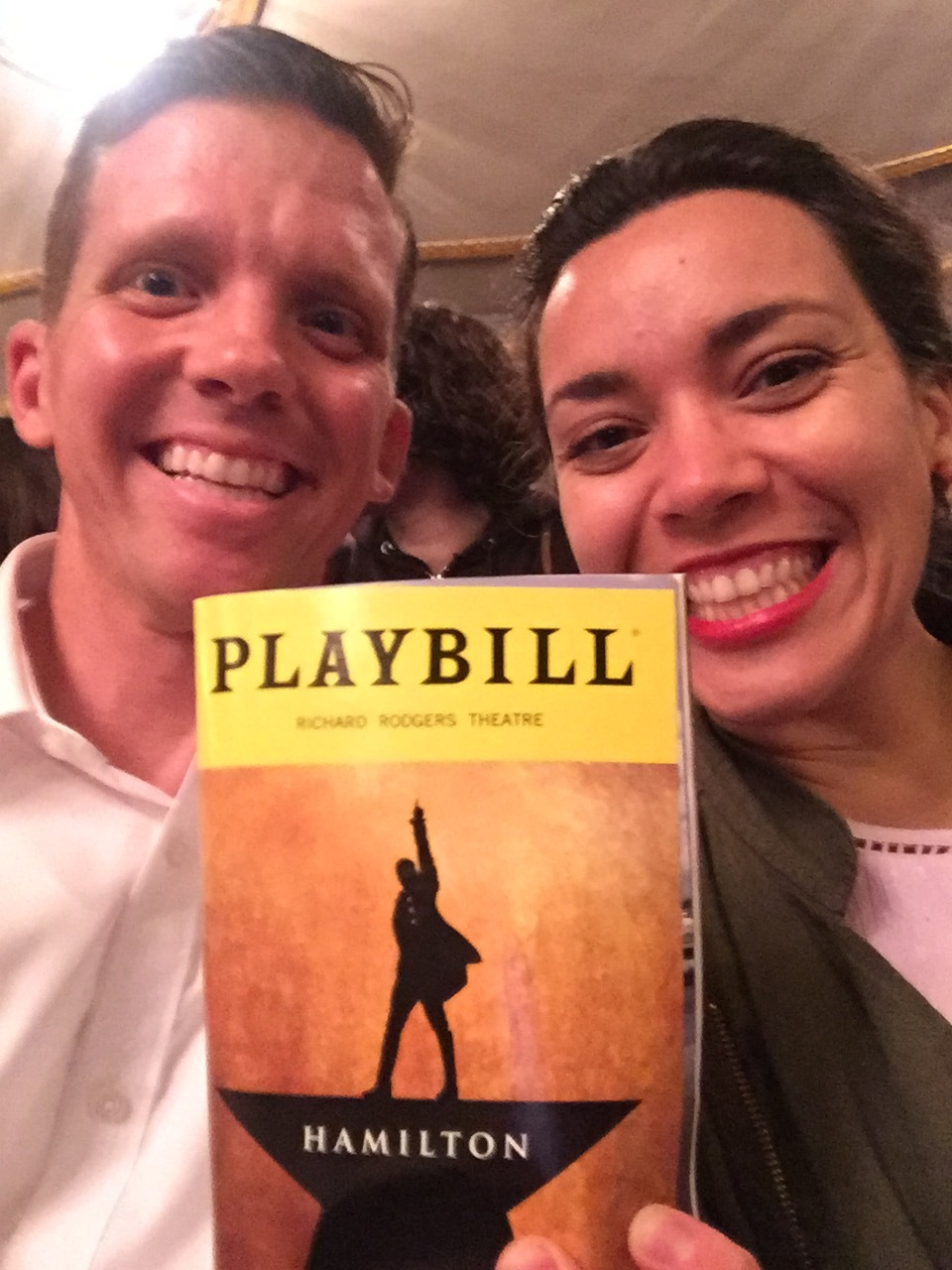 A few days later it was such a gift to celebrate our anniversary by getting to see Hamilton on Broadway was unforgettable!