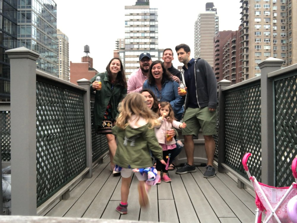 You can make it, Lucie!   Love this great picture from a fun Sunday evening on the Thomases rooftop.