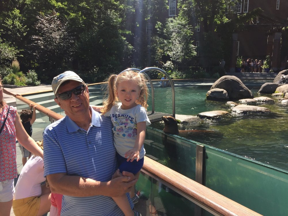 At the Central Park Zoo with Abo