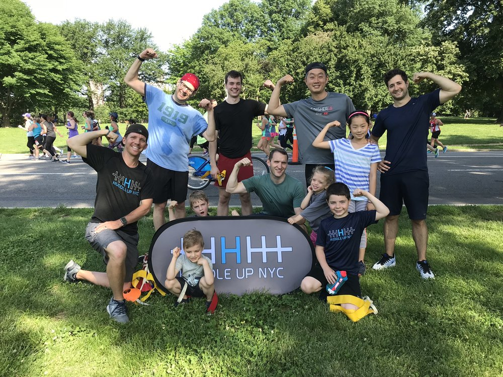 Huddle Up NYC's special Father's Day workout with lululemon.