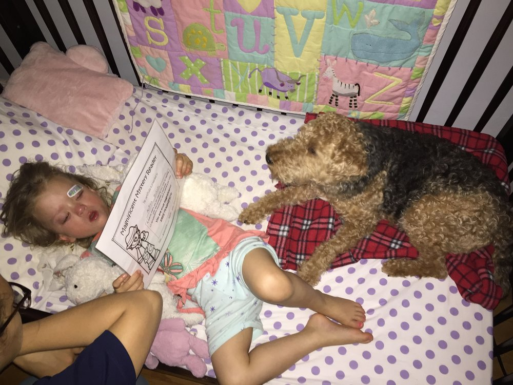 Later that night she bumped her eye pretty badly on the side of her bed. She wanted Bess to sleep with her which was really sweet. We sang, and talked and told her she would be okay. She prayed a very special prayer before going to bed this night.