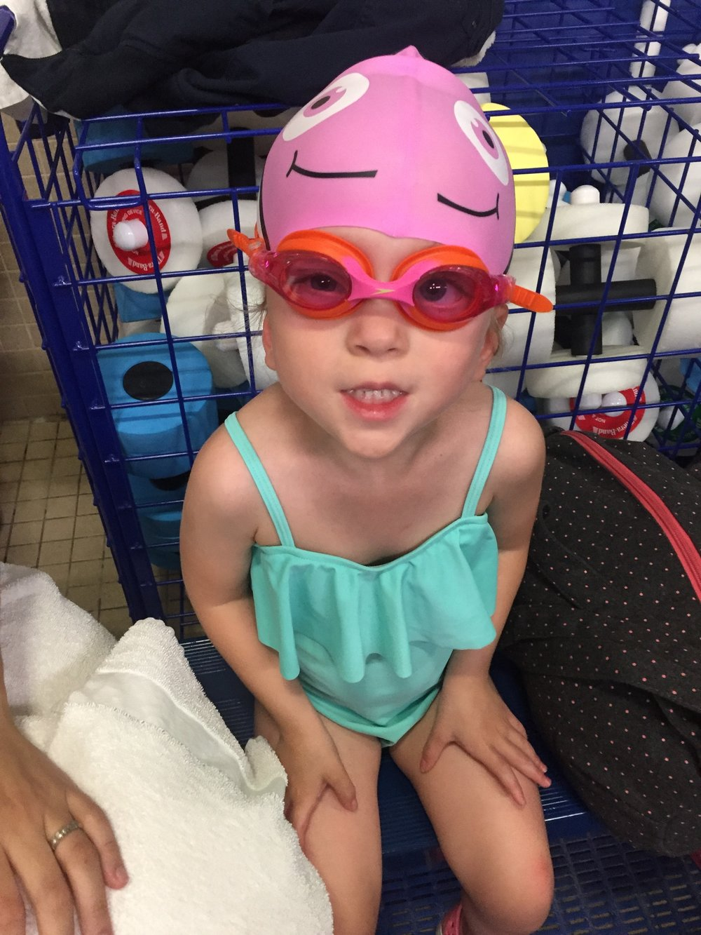 Ready for swim lessons at the Y!