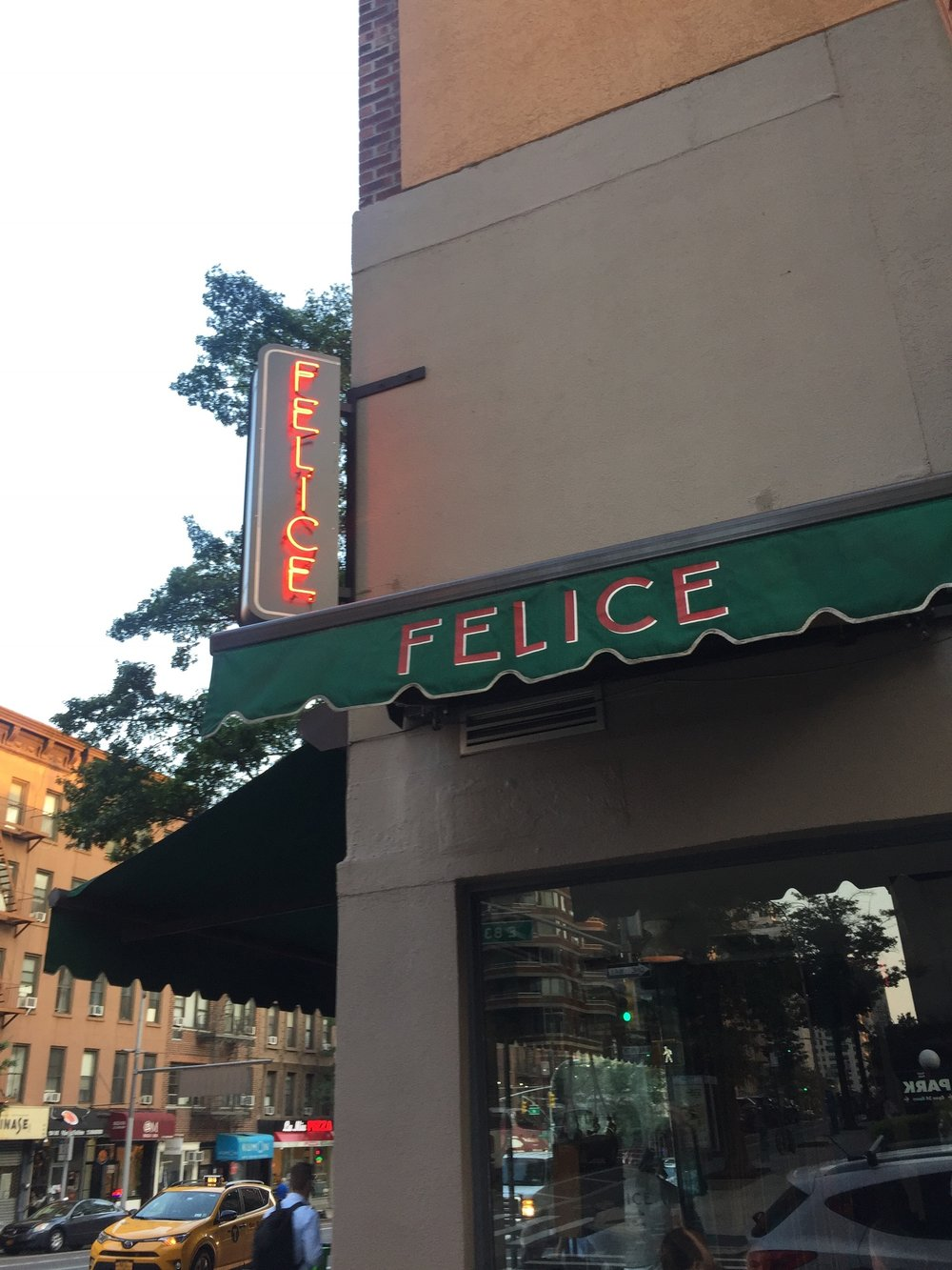 And then to Felice for dinner. SO GOOD.
