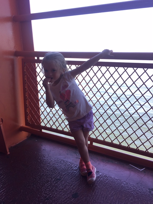 During Lucie's break at the end of June she got to go on a ton of adventures with Rob, like the Staten Island Ferry to see the Statue of Liberty followed by lunch together by my job!