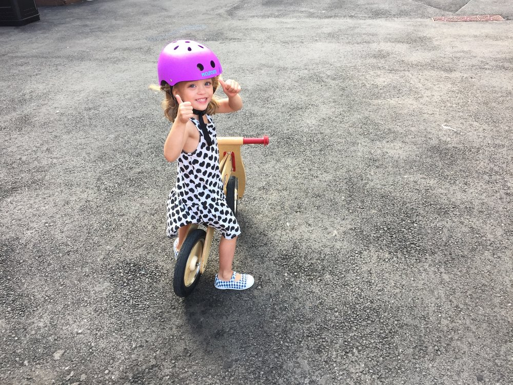 Getting better and better at the balance bike!