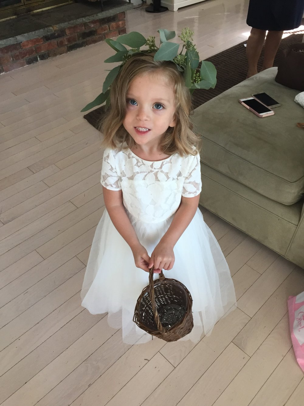 Lucie ready to be a flower girl
