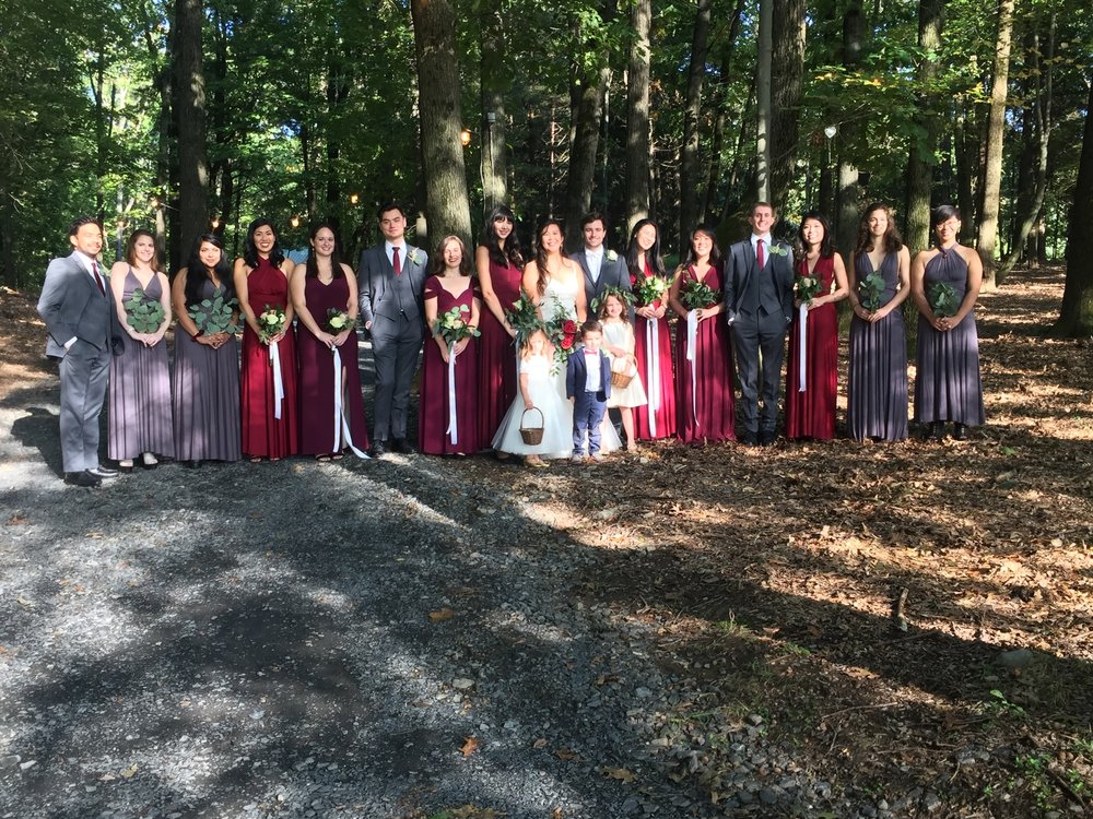The whole wedding party, it was a beautiful day and the love and friendship surrounding the celebration was so special.
