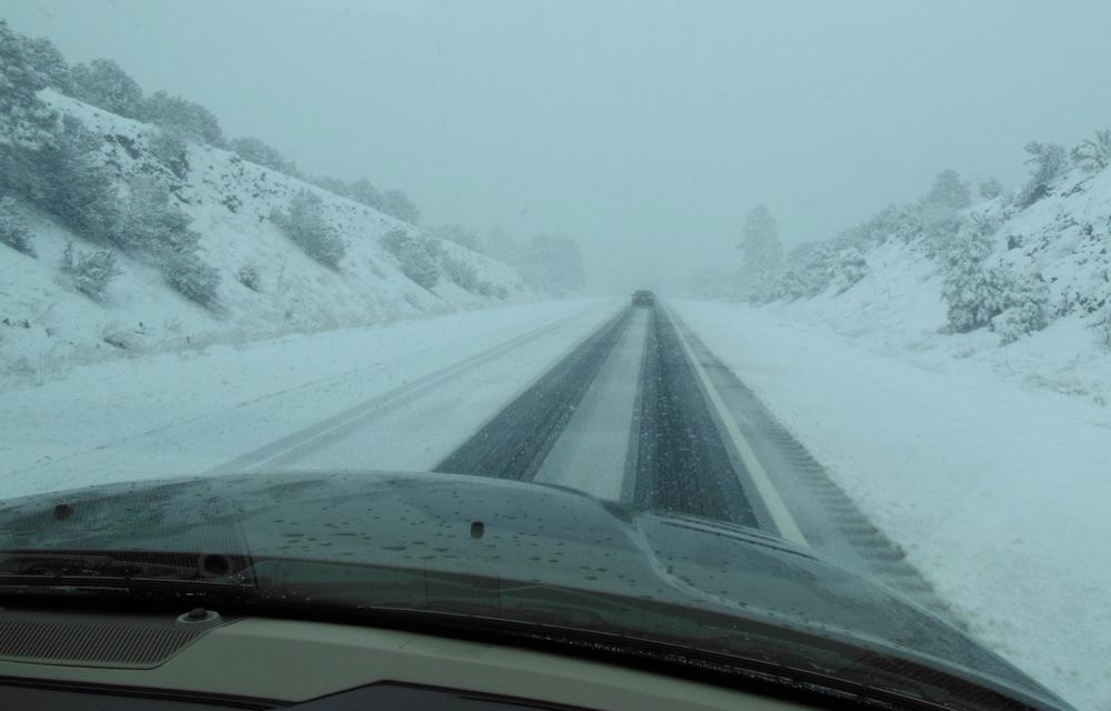 35 mph on I-40 near Flagstaff.