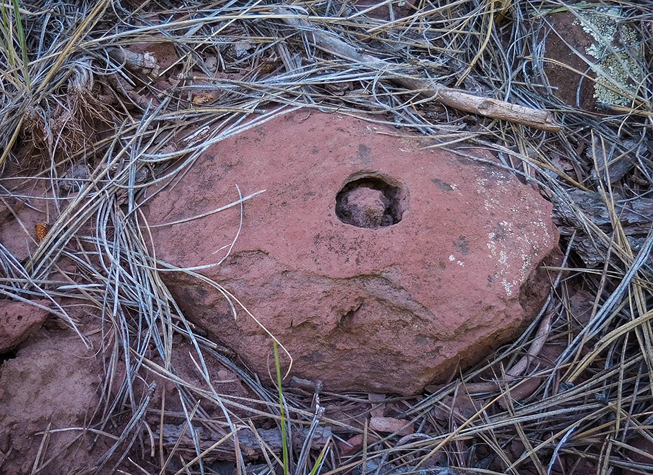 We're sure there's a proper scientific explanation but a rock in a hole in a rock was a mystery to us..