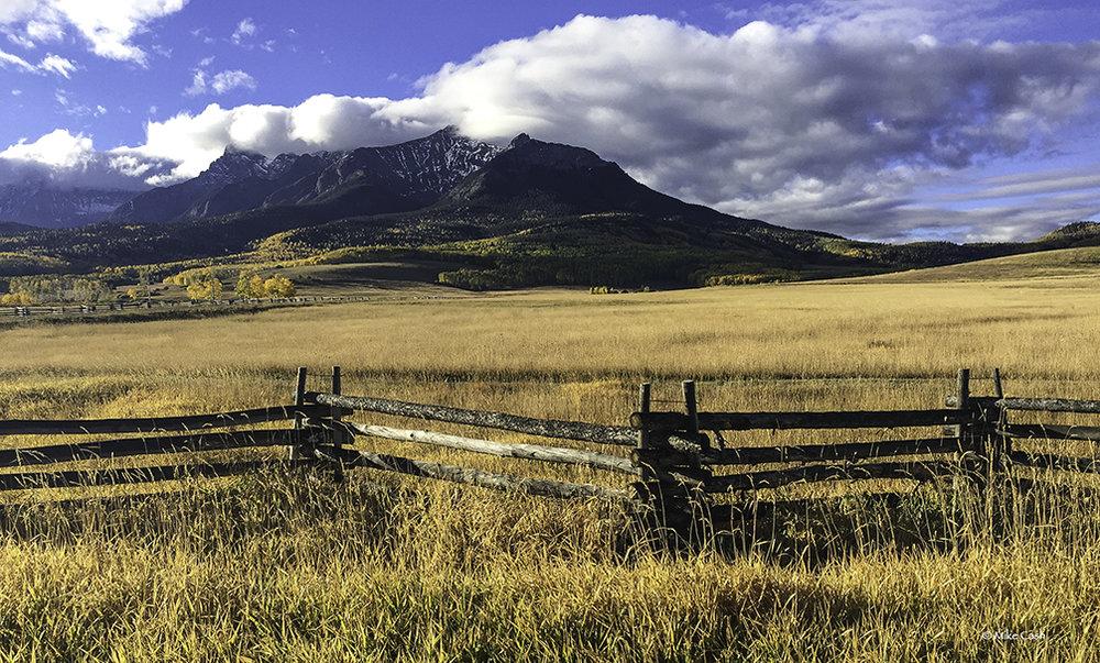 Rail fence at Last Dollar Ranch