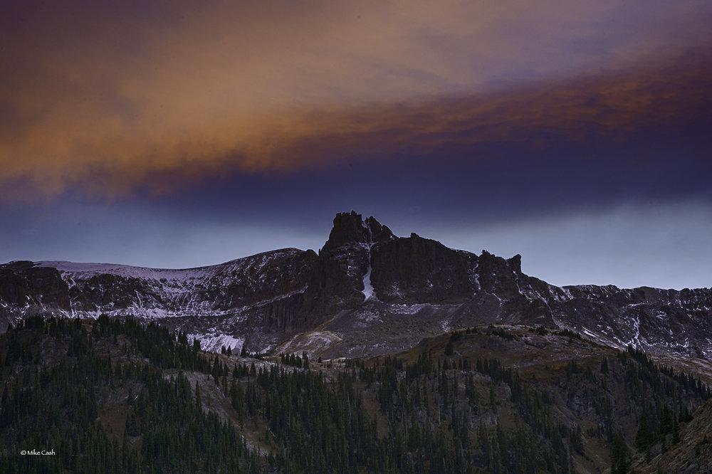 Twilight near Yankee Boy Basin.