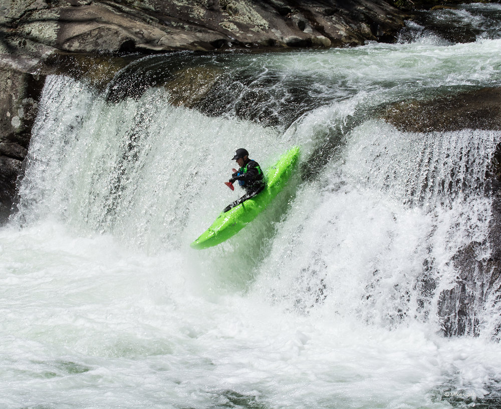 Baby Falls is a major thrill for the many kayakers on the Tellico River.