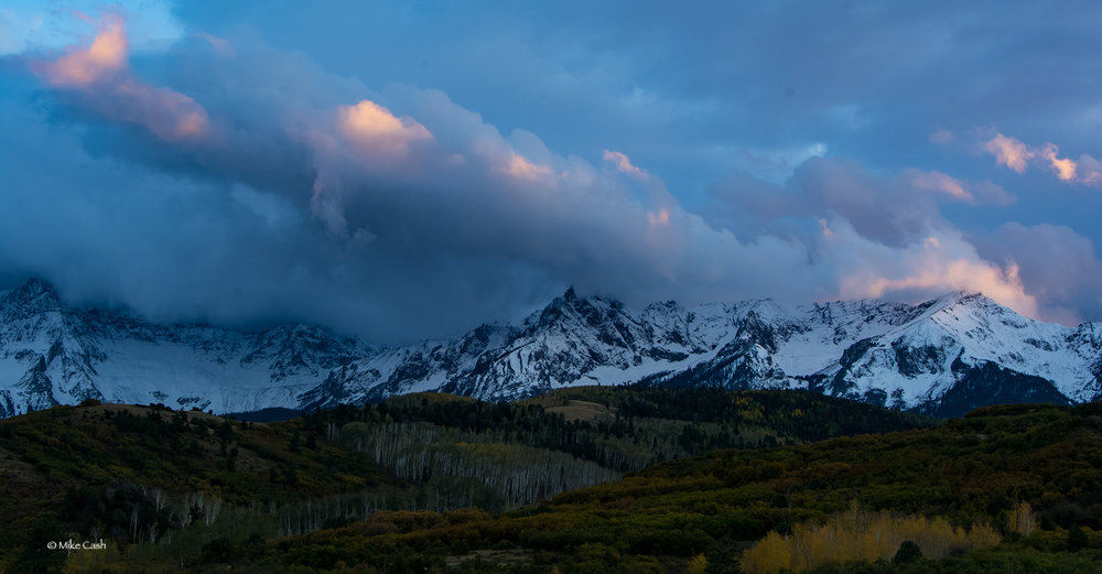 Last light at Dallas Divide