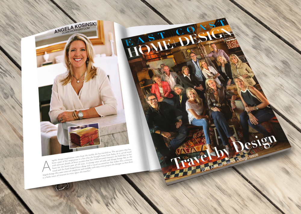 Angela Kosinski Featured In East Coast Home Design 2015 Annual