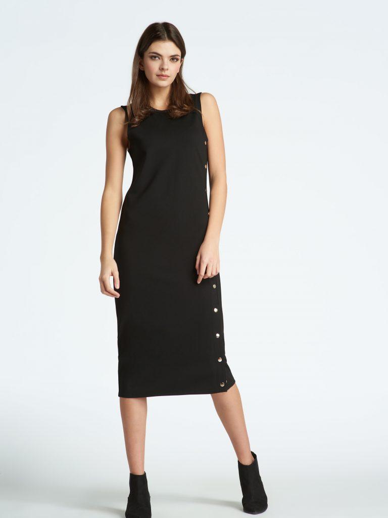 Studded Black Dress
