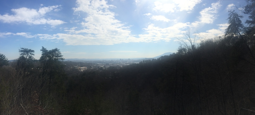 View from our hike of downtown Chattanooga