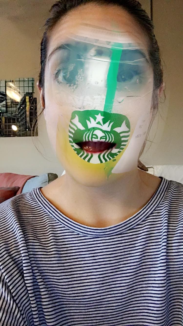 Scary Starbucks Tea Face
