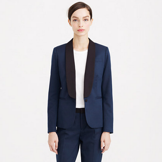 For Women: J. Crew Two-Tone Tuxedo Jacket