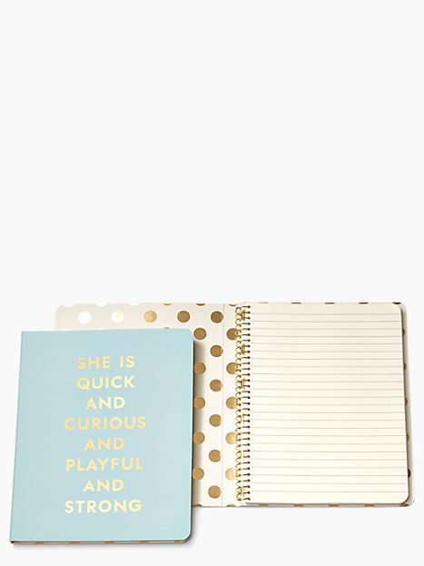 For Women: Kate Spade Quick and Curious Spiral Notebook