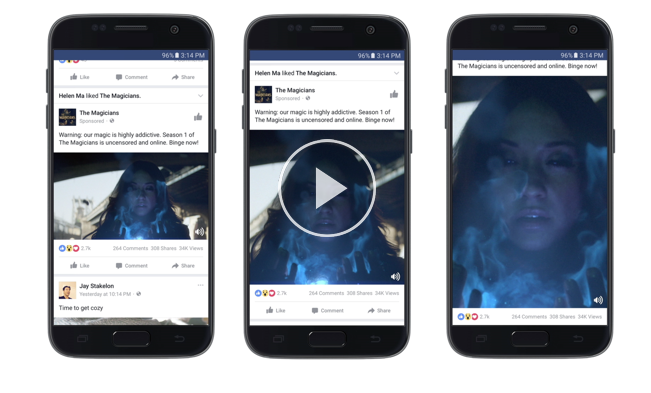 facebook ads square videos example