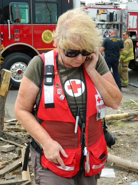 Amy spreds love as a Red Cross volunteer