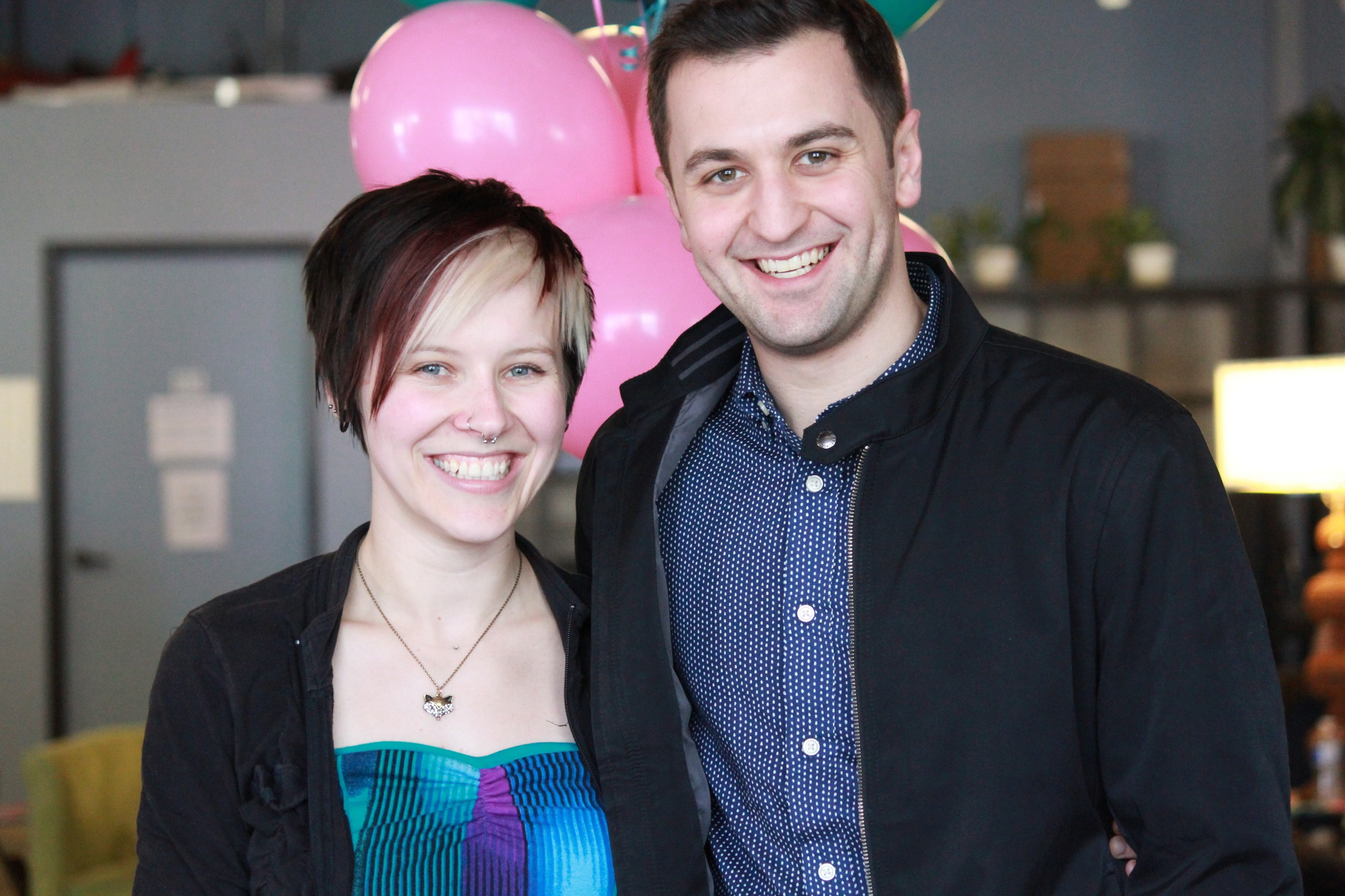 LA Community Manager Stacey Speer and Lyft Co-Founder John Zimmer.