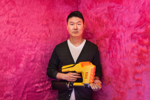 Frank Yoo, master engineer by day, Nerf gun hit man by night.