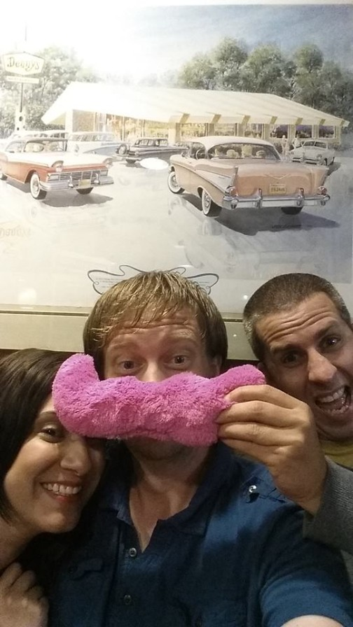 Danny celebrated his 100th  ride with two of his fellow Lyft mates and a late night breakfast!