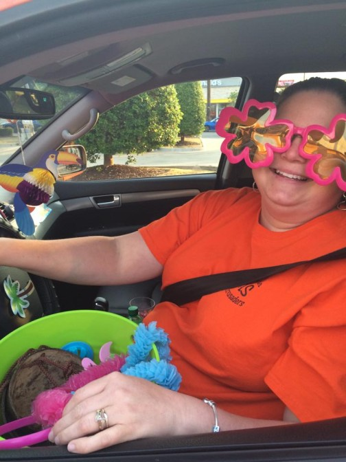 With fun props and playful decor, Christina's Nashville ride is Lyftstagram-ready at all times.