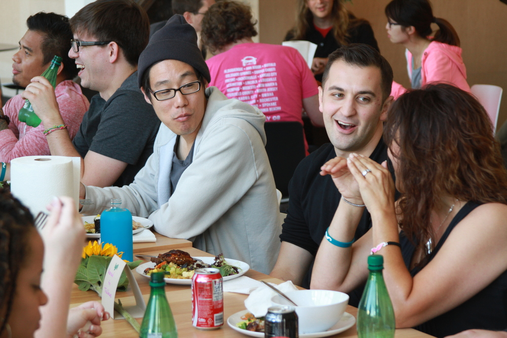 The Trailblazers' visit culminated in a lunch with Lyft president John Zimmer.
