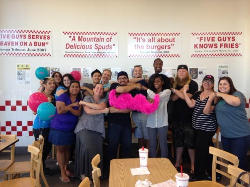 Stockton drivers met up with each other at 5 Guys