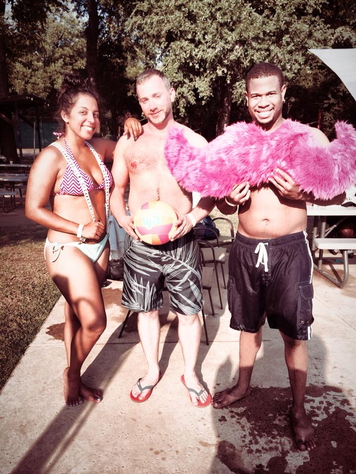 When the summer sun was beating down on Dallas drivers, they did what any of us would do – throw a pool party!