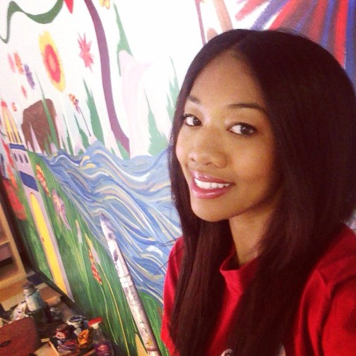 monica haruna painting her her way to pay off college debt