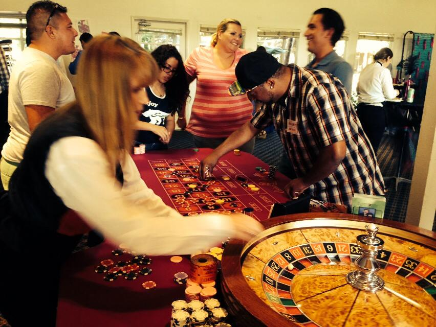 Partygoers didn't need a flight to Vegas to test their luck on classic casino games.