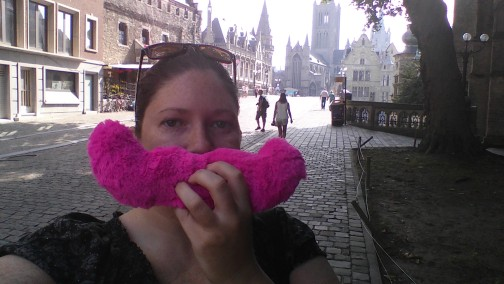 Me with the Cuddlestache in Belgium.