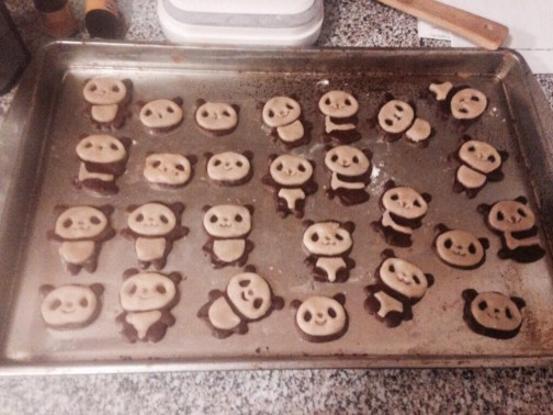 Melissa M. from Dallas whips up these adorable cookies for her passengers in her Panda Lyft.