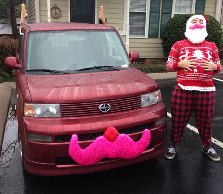 Nice sweater, Santa!