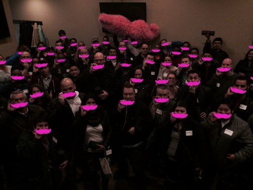 Drivers united at The Piggery to light up Chicago with a school of Glowstaches.
