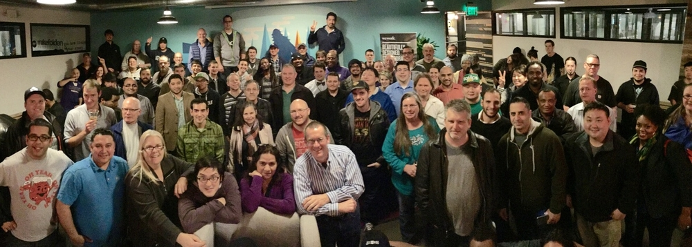 The Seattle community filled our local home at WeWork with smiling faces