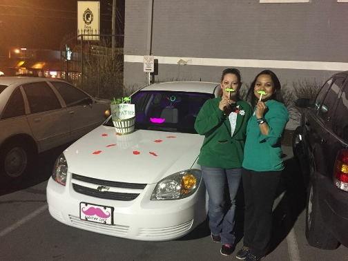 "Christine won ""Best Car Decoration."""