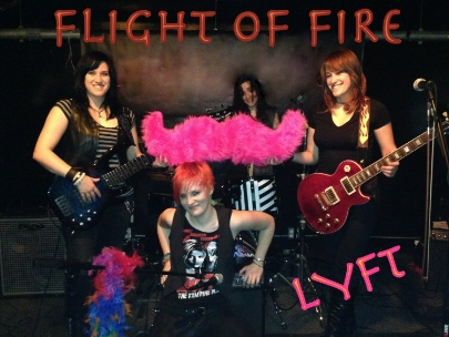 Flight of Fire takes a break from band practice to pose.
