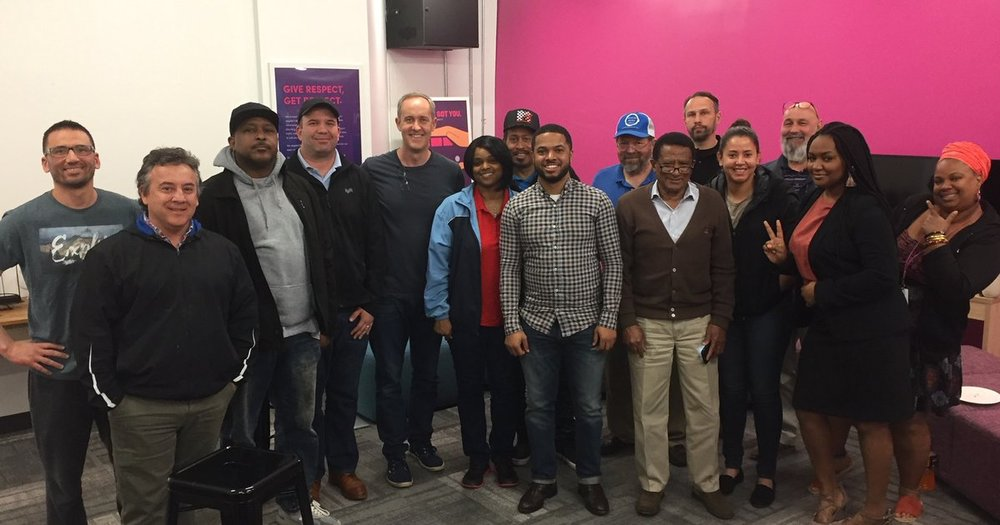 Lyft's DC team - led by Marketing Associate, Brandon - invited the city's most engaged drivers to a Driver Community Roundtable. The Roundtable gave drivers the opportunity to voice their opinions on recent initiatives and discuss their perspectives to improve their driving experience.