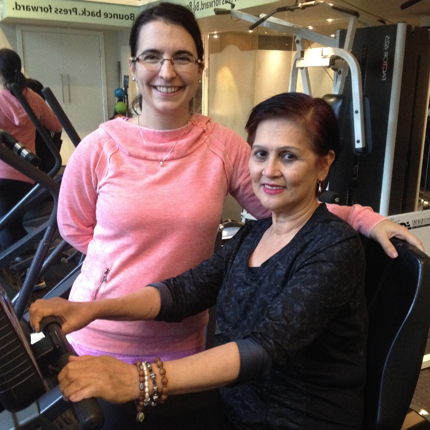 Socorro's Story -  Socorro is a vibrant, lovely woman who came to us in June 2016.  Despite her very healthy lifestyle, Socorro experienced a stroke in January 2016 that affected the entire right side of her body.  With incredible determination she came to us with goals to improve daily function and restore overall mobility.  She attends twice per week with Andreja and, in conjunction with her physiotherapy treatments, is making leaps and bounds in her recovery.Socorro has an incredibly positive attitude that is infectious and inspiring to us all. For all of the education and help that she has received from us, Socorro is teaching us even more about life and over-coming challenges.  We are grateful to have her as a client! We asked Socorro for feedback about her experience working with Symmetrix. What brought you to Symmetrix?  What keeps you coming back? Andreja's expertise & experience to work with post stroke patients.  I keep coming back because each session I do at Symmetrix with Andreja gets me closer to my goal to walk properly again & be able to use my right hand & arm again. How has your training with us helped support your health and lifestyle?First of all, I've learned to work with my disability bit by bit & manage it each muscle at a time as Andreja shows me the right exercises for each of my movement goals.  This is so helpful to me.  Prior, I would get so anxious that I couldn't do simple tasks like reaching for the towel with my right hand to dry my hair.  Andreja helps me regain my confidence by encouraging me to take on mini challenges of movements & body extensions that have been 'on pause' as a result of my stroke.  As a result I'm able to cope with day-to-day activities & daily chores more positively.  What do you feel is the most unique thing about Symmetrix as a training company?Symmetrix treats each of their clients as 'unique' individuals, not with a 'one size fits all' attitude.  I feel when I'm training with Andreja that the program she designs for me is uniquely mine. She genuinely cares & her encouragement gets me closer to the next step!
