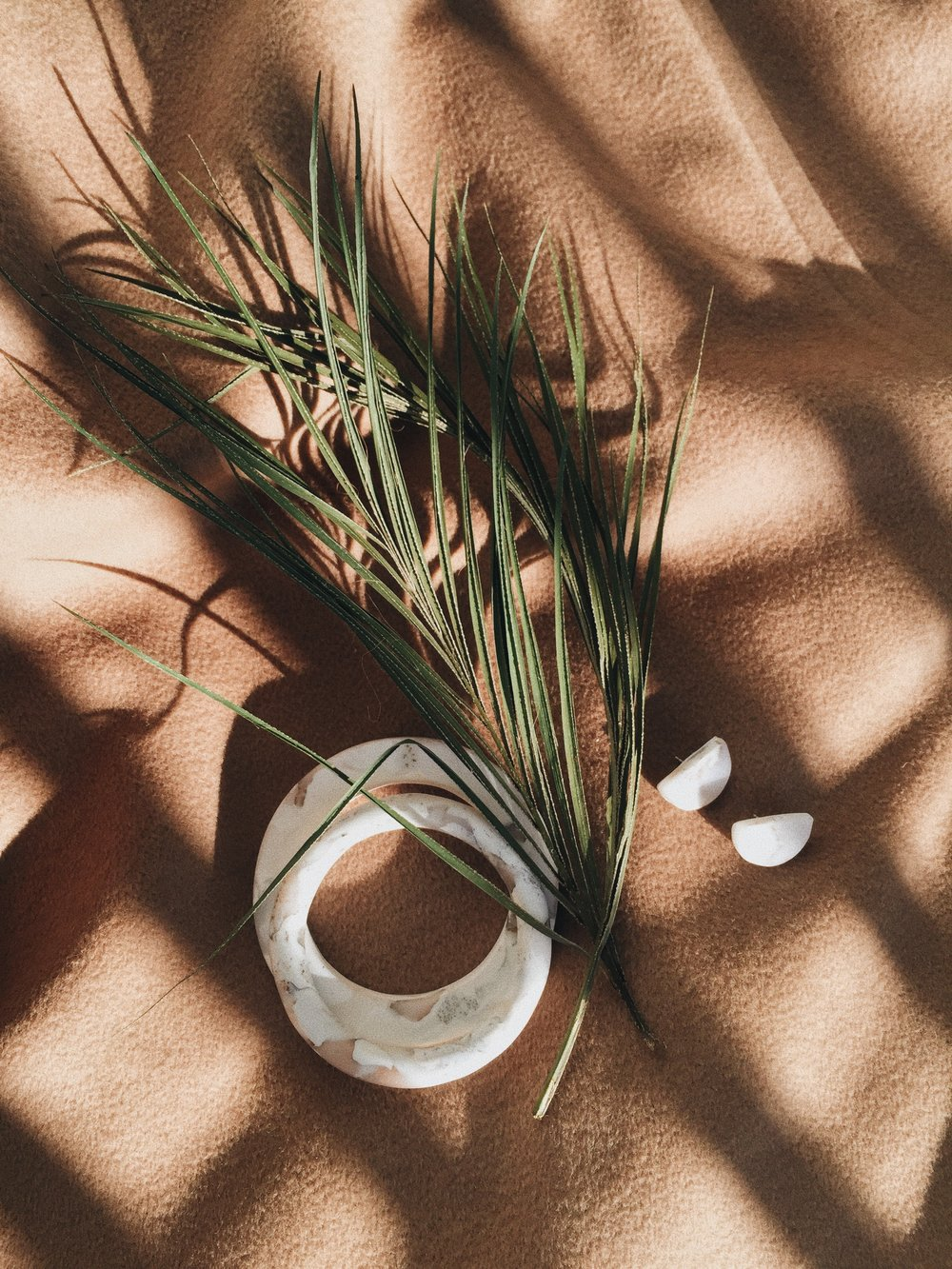 White Marble Bangles and Earrings