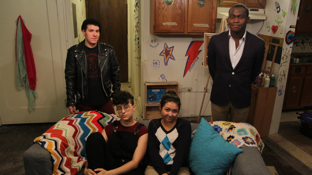 Peter Wilde as Danny, Emilie Modaff as Bree, Grace Hutchings as Ana, and Debo Balogun as Tim