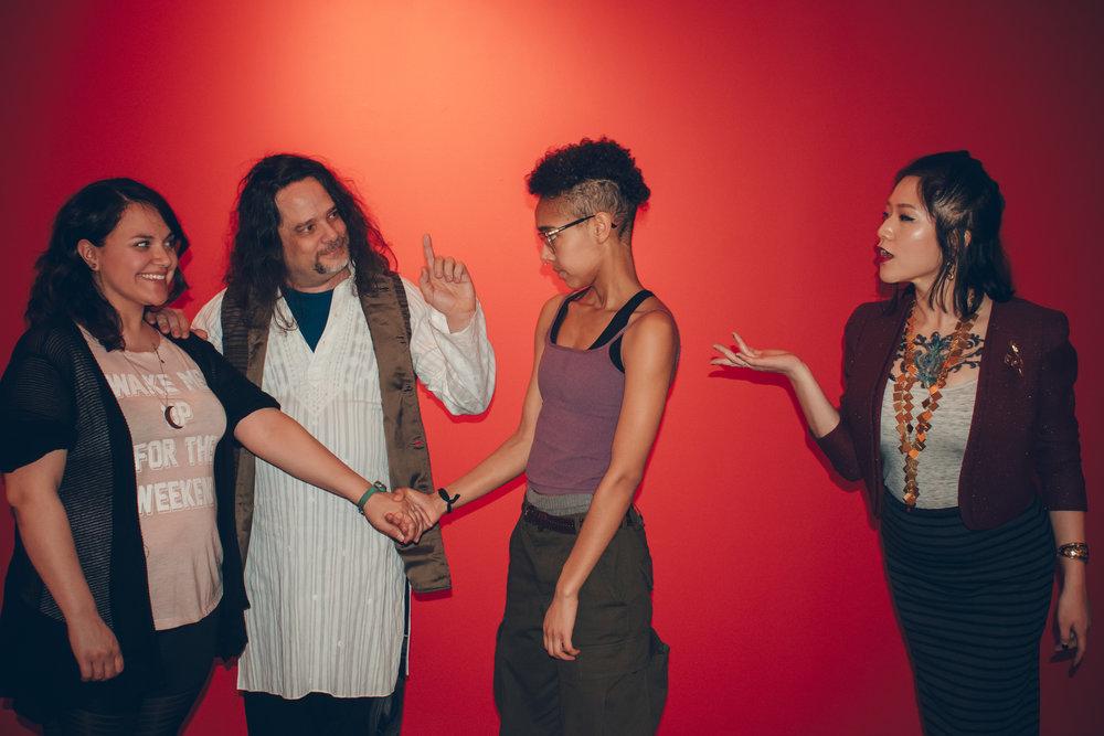 Samantha Michelle Nava, Dr. Phranque Wright, Stella Mensah, and Wanda Jin